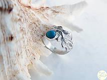 - Strieborný odlievaný prsteň s pravým tyrkysom z Arizony - Šu - 4506534_