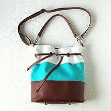 Veľké tašky - Zľava 20%! BigBag - Hnedo-tyrkysová - 4504737_