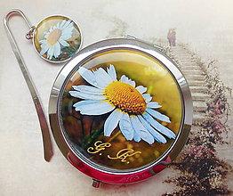 Zrkadielka - sada Margarétka - iniciály, jméno na přání - 4506920_