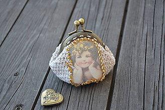 Peňaženky - Peňaženka s anjelikom - 4505877_