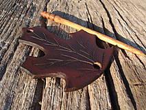 Ozdoby do vlasov - Listová spona javorová - malá - 4504156_