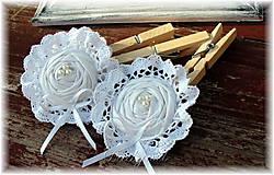 Svadobné pierko - broška Božka