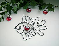 Dekorácie - ryba červená - 4507701_