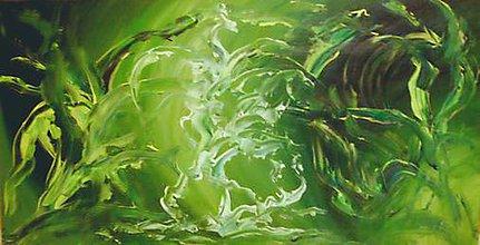 Obrazy - Zelená fantázia - 4509234_