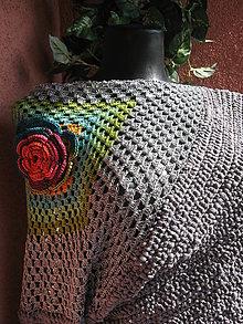 Svetre/Pulóvre - Ặmber - dúhový kvet ♣ - 4508878_