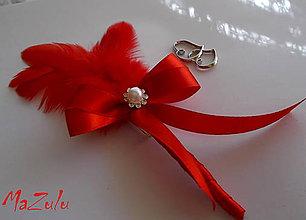 Pierka - červené svadobné pierko - 4508062_