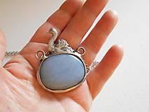 Náhrdelníky - Labuť-šperk tiffany -angelit - 4509807_