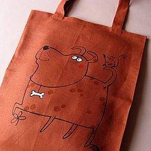 Nákupné tašky - S KŮSTKOU - taška nákupka - 4511318_