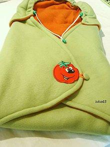Textil - zavinovačka oranž+ zelená - 4510547_