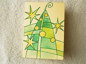 Papiernictvo - Pohľadnica, vitrážové Vianoce - 4508444_