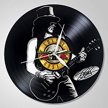 Hodiny - Slash .. GUNS & ROSES - vinylové hodiny z LP - 4513400_