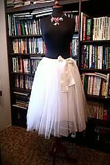 Svadba - biela krátka suknička  - 4515889_