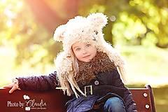 Detské čiapky - Krémový macko - 4512709_