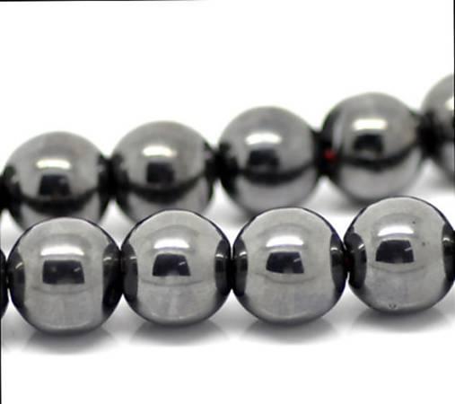 Hematitové gulôčky striebornej farby 10mm