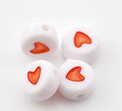Korálky - Korálky srdiečka (balíček 100ks) - 4513032_