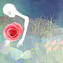 Grafika - Milá ruža - 4513779_