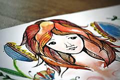Kresby - slečna jesenná - 4513935_