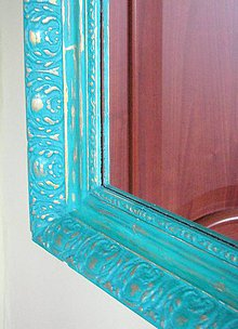 Zrkadlá - Zelenozlaté zrkadlo predané - 4511759_