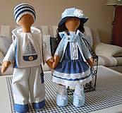 Bábiky - Modrý párik - 4520922_