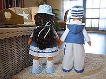 Bábiky - Modrý párik - 4520927_