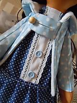 Bábiky - Modrý párik - 4520928_