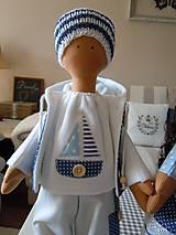Bábiky - Modrý párik - 4520929_