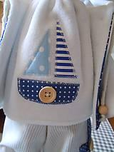 Bábiky - Modrý párik - 4520930_