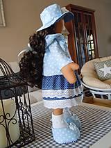 Bábiky - Modrý párik - 4520933_