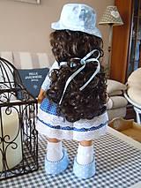 Bábiky - Modrý párik - 4520935_