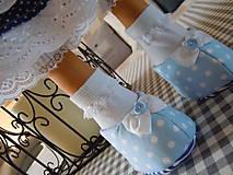 Bábiky - Modrý párik - 4520937_