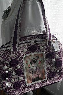 Veľké tašky - Maxi taška - madam v kráľovskom šate...:) - 4520289_