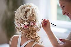 """Ozdoby do vlasov - Nežný svadobný štvrťvenček """"vôňa lásky""""...na ukážku - 4517128_"""