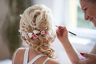 Ozdoby do vlasov - Nežný svadobný štvrťvenček \