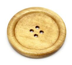Galantéria - Drevený gombíček 5cm - 4520481_
