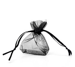 Obalový materiál - Organzové vrecúška čierne 5x7cm (balíček 20ks) - 4520639_