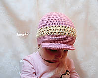 Detské čiapky - Šiltíková s mašličkou - 4521798_