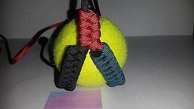 """Pre zvieratká - """"V"""" prak (teal, black, red) z para šnúry - 4525012_"""