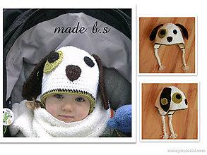 Detské čiapky - psik - 4524441_