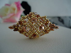 Prstene - Zlato-medený prstienok - 4522294_