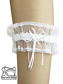 Bielizeň/Plavky - Podväzok svadobný, podväzok pre nevestu 0525 - 4525780_