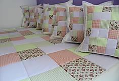 Úžitkový textil - prehoz na posteľ patchwork deka 140x200 alebo 220x220 - 4526942_