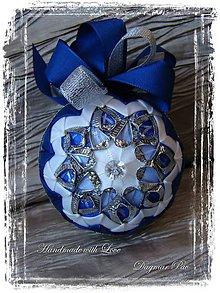 """Dekorácie - Vianočná guľa ,,Blue Christmas"""" - 4527692_"""
