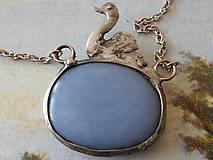 Náhrdelníky - Labuť-šperk tiffany -angelit - 4525129_