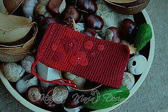 Taštičky - púzdro bordovo-červené - 4525440_