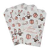 - Vianočný papierový sáčok 12x18cm - 4526850_