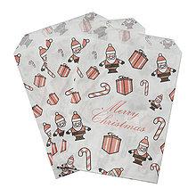 Obalový materiál - Vianočný papierový sáčok 12x18cm - 4526850_
