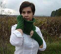 Šály - zelený setík - 4526950_