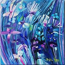 Obrazy - Divoké kvety 2- Modré zátišie - 4525600_