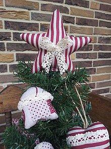 Dekorácie - Vianočná hviezda na stromček - 4525543_