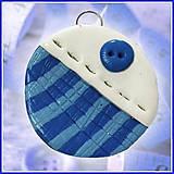 Náhrdelníky - Prívesok ako pre krajčírku - modrý - 4527381_